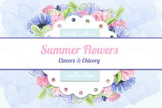 Posted by @newkoko2020 Watercolor Summer Flowers by Mila.Brik on @creativemarket