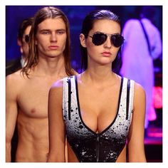 Throwing back with FIERCE EDGE | #JETSswimwear White Label Abstraction on the #DJSS15 runway. So much yes