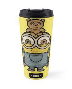 """""""Minion bob"""" chibi minions travel mug only $25"""