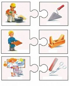 Crafts,Actvities and Worksheets for Preschool,Toddler and Kindergarten.Lots of worksheets and coloring pages. Bilingual Kindergarten, Kindergarten Math Worksheets, Community Helpers Preschool, Toddler Learning Activities, Teaching Jobs, Puzzles For Kids, Childhood Education, Preschool Activities, Kids And Parenting