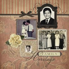 Ancestry Scrapbooking Layouts | Ancestry Digital Scrapbooking Layout | Flickr - Photo Sharing!