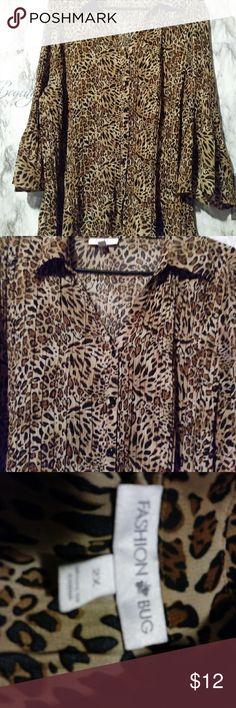 Fashion bug blouse Leopard blouse Other