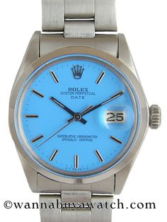 Rolex SS Oyster Perpetual Date circa 1978 Custom Colored Dial ($500-5000) - Svpply