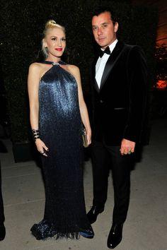 Gwen Stefani in Ferragamo and Gavin Rossdale