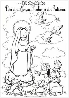 Catequese com Crianças: Nossa Senhora de Fátima - Atividade para Catequese