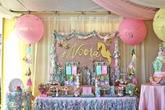 Under the Sea Party Setup via Kara's Party Ideas | karaspartyideas.com