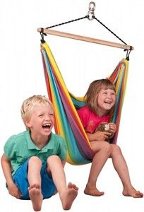 Iri Children's Hammock Swing You could hang a hammock under the loft bed???
