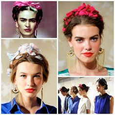 YES!! Braid Inspiration: Frieda Kahlo. I just need beautiful chandelier earrings, a red or berry lip and bold eyebrows to complete the look.