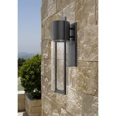 """front entrance Hinkley Dwell 20 1/2"""" High Indoor/Outdoor Wall Light"""