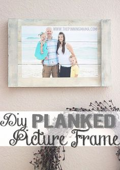 Creative DIY Mothers Day Gifts Ideas - DIY Planked Picture Frame - Thoughtful Homemade Gifts for Mom. Handmade Ideas from Daughter, Son, Kids, Teens or Baby - Unique, Easy, Cheap Do It Yourself Crafts To Make for Mothers Day, complete with tutorials and instructions http://diyjoy.com/diy-mothers-day-gift-ideas