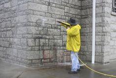 Taginator Used to clean Graffiti From Church.  Story from Salisbury about the world's best graffiti removal product being used on a church that was vandalized.