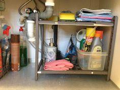 organizacion armario bajo fregadero