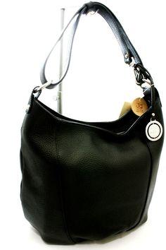 Borsa Monospalla regolabile  in pelle Bag Ladies JackyCeline ArtB101-5 Nero