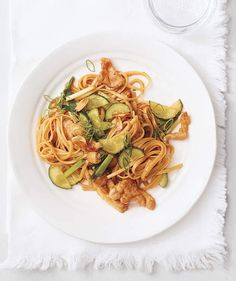 Chicken and Cucumber Stir-Fry With Noodles and Crispy Garlic | Get the recipe for Chicken and Cucumber Stir-Fry With Noodles and Crispy Garlic.
