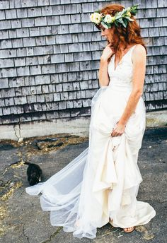 Bohemian casual chic wedding gown // The Maine Tinker