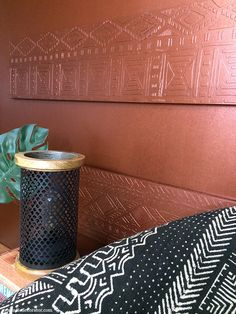 A Shimmery Metallic Copper Wall with Modern Masters Copper Paint, Copper Wall, Rose Gold Rooms, Copper Accents, Copper Rose, Room Paint Colors, Modern Masters, Copper Kitchen, Wall Patterns