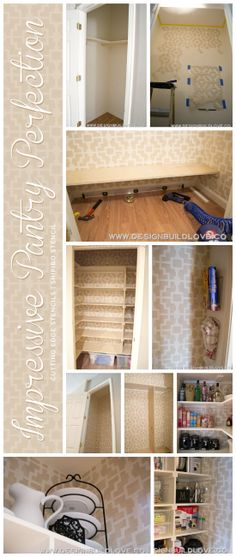 A stenciled pantry makeover using the Shipibo Allover pattern from Cutting Edge Stencils. http://www.cuttingedgestencils.com/stencils-wall-s...