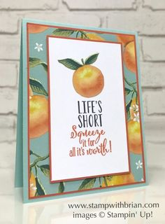 2017 Stamp Sets: Lemon Zest Papers: Whole Lot of Lovely, Pool Party, Tangerine Tango, Whisper White Inks: Archival Basic Black, Tangerine Tango Accessories: Stampin' Dimensionals Limes, Specialty Paper, Birthday Thank You, Get Well Cards, Orange Blossom, Card Sketches, Paper Cards, Stamping Up, Cool Cards