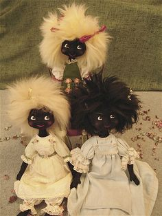 Black Jointed Cloth Golly Doll by Malphi, via Flickr