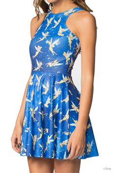 Tinkerbell Reversible Skater Dress (WW $95AUD / US $90USD) by Black Milk Clothing