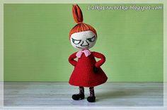 Little My Moomin, Amigurumi Doll, Crochet Animals, Crochet Dolls, Knitting Projects, Art For Kids, Christmas Ornaments, Moomin Valley, Toys