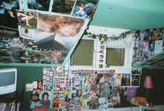 You don't have to post them all. I had a Polaroid camera that I used a lot, and at my high school disposable cameras were very in. Room Ideas Bedroom, Bedroom Inspo, Bedroom Decor, Teen Bedroom, My New Room, My Room, Dorm Room, Grunge Bedroom, Indie Room