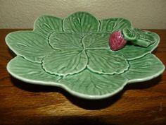 Vintage Bordallo Pinheiro Cabbage Strawberry Plate