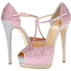 Giuseppe Zanotti shoes. Ah these shoes! AH they are of such delicate beauty yet glamorous and elegant with just enough bling to make them HOT!. I love them..K♥♥♥♥