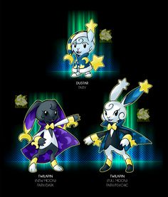 The Rabbit on the Moon by Darksilvania ( yes please i need this pokemon )