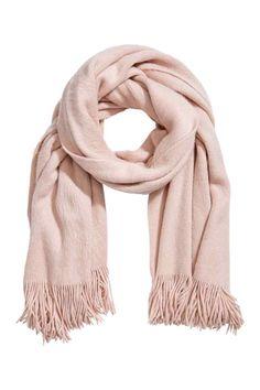 Pletená šála - Pudrově růžová - ŽENY | H&M CZ
