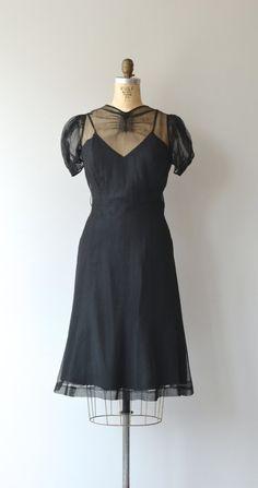 Night Missive Dress Vintage 1930s Black 30s By Deargolden