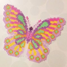 Butterfly hama/nabbi beads by pandurogranby Perler Bead Designs, Perler Bead Templates, Hama Beads Design, Perler Beads, Perler Bead Art, Fuse Beads, Pearler Bead Patterns, Perler Patterns, Pearl Crafts