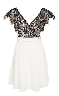 Cross Over Front Lace Swing Skater Dress