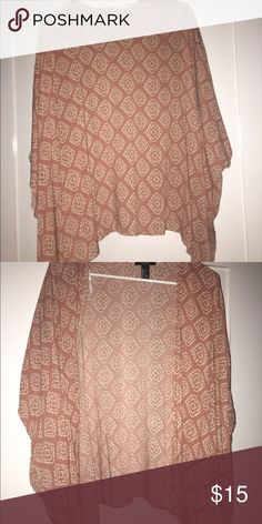 forever 21 kimono very cute when worn over tops. never worn. fits xs/s/m. NWOT Forever 21 Other