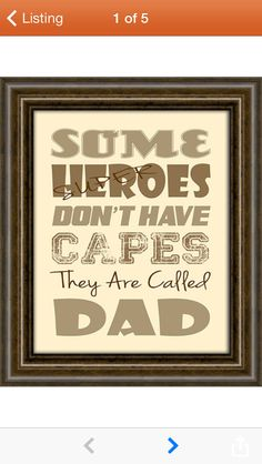 Some heroes don't have capes... Father's Day card idea