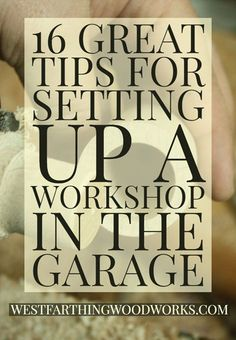 16 Great Tips for Setting Up a Workshop in the Garage : This is everything you need to set up a garage shop you will be proud of. Lots of tips, great instruction, and ideas to make your woodworking shop as comfortable as possible. Small Woodworking Projects, Woodworking Jobs, Woodworking Patterns, Woodworking Workshop, Popular Woodworking, Woodworking Techniques, Woodworking Furniture, Woodworking Crafts, Wood Projects