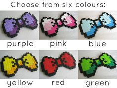 8bit Hair Bow by MAinvitations on Etsy, $5.00
