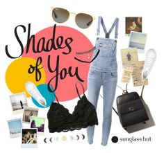 """""""Shades of You: Sunglass Hut Contest Entry"""" by daydreaming21 ❤ liked on Polyvore featuring Ray-Ban, Diesel, Polaroid, Wet Seal and shadesofyou"""