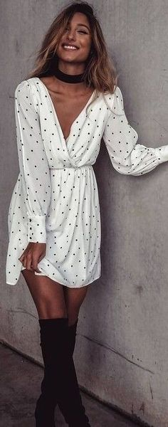 #summer #mishkahboutique #outfits | Polka Dot Little Dress