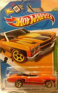 Hot Wheels Treasure Hunt 70 Chevelle Convertible (Treasure Hunt) #HotWheels #Chevrolet #ebay