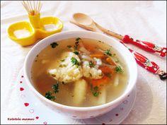 Supă de zarzavat cu gulii și găluști Supe, Ethnic Recipes, Food, Essen, Meals, Yemek, Eten