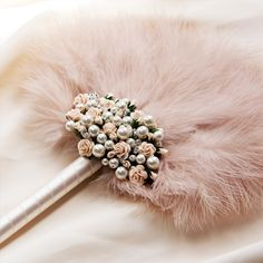 27 Unconventional Bouquets for the Non-Traditional Bride via Brit + Co., Pink Feather Fan