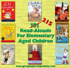 215 Read-aloud books for elementary aged children #reading #readers #strugglingreaders #literacy #litchat #edchat #educhat
