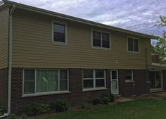 This home's exterior was pretty old, worn and damaged in various areas. We did a complete tear down of the old siding and replaced with with brand new James Hardie siding and trim. James Hardie siding and trim (rear of house). http://www.prohome1.com/en/gallery/siding-pictures.html