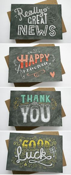 Steph Says Hello – Chalkboard greetings