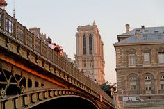 The Pont d'Arcole in Paris, highlighting the beautiful Notre Dame in the back!