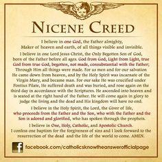 My Catholic Faith The Nicene Creed More Nicene Creed Catholic, Catholic Theology, Catholic Mass, Catholic Religion, Dynamic Catholic, Catholic Quotes, Catholic School, Catholic Answers, Roman Catholic Prayers