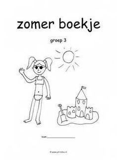 Werkboekje zomer Aperol, Kids Learning, Letters, Water, Google, Stage, Logo, Halloween, Sink