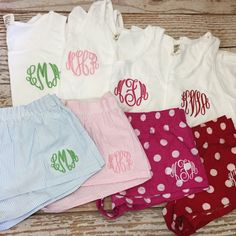 Monogrammed pajama set comfort color tank and boxer by skkilby21