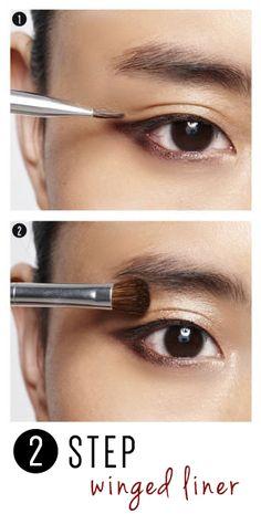 Easy 2 step cat eye.  #cateye